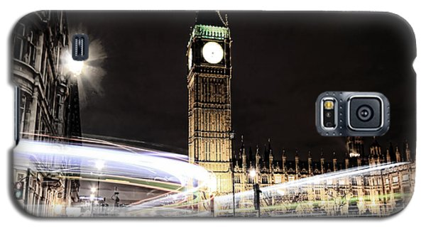 Big Ben With Light Trails Galaxy S5 Case by Jasna Buncic