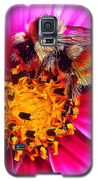 Buy Galaxy S5 Cases - Big Bumble on Pink Galaxy S5 Case by Bill Caldwell -        ABeautifulSky Photography