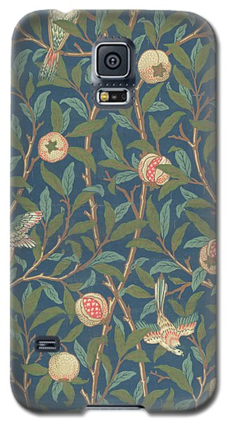 Tapestries - Textiles Galaxy S5 Cases - Bird and Pomegranate Galaxy S5 Case by William Morris