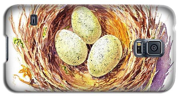 Bird Nest A Happy Trio Galaxy S5 Case by Irina Sztukowski