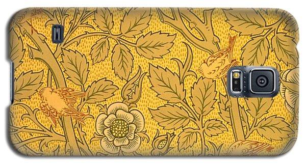 Tapestries - Textiles Galaxy S5 Cases - Bird wallpaper design Galaxy S5 Case by William Morris