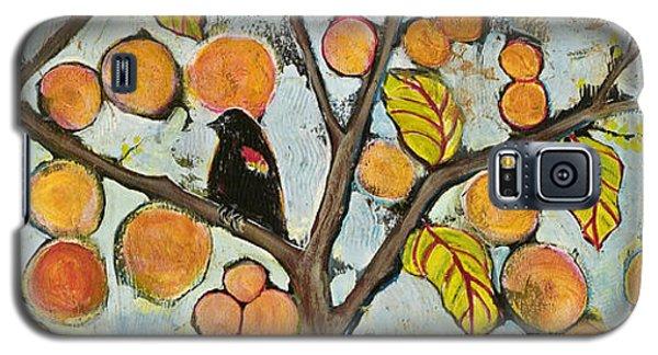 Birds In Paris Landscape Galaxy S5 Case by Blenda Studio