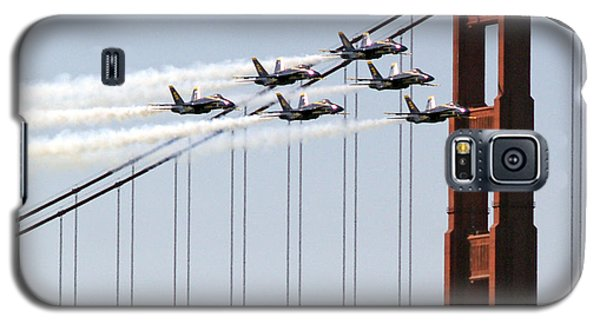 Blue Angels And The Bridge Galaxy S5 Case by Bill Gallagher