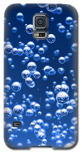 Galaxy S5 Cases - Blue bubbles Galaxy S5 Case by Bruno Haver
