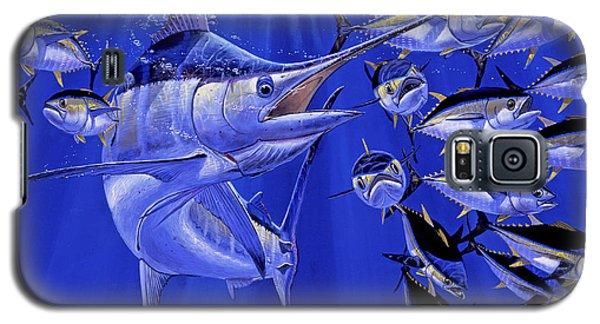 Blue Marlin Round Up Off0031 Galaxy S5 Case by Carey Chen