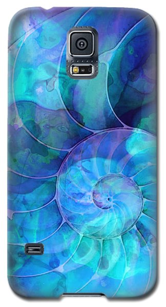 Blue Nautilus Shell By Sharon Cummings Galaxy S5 Case by Sharon Cummings
