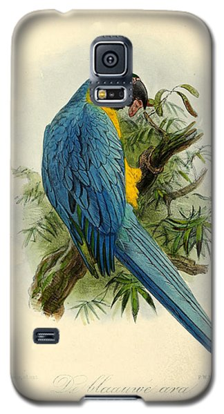 Blue Parrot Galaxy S5 Case by J G Keulemans