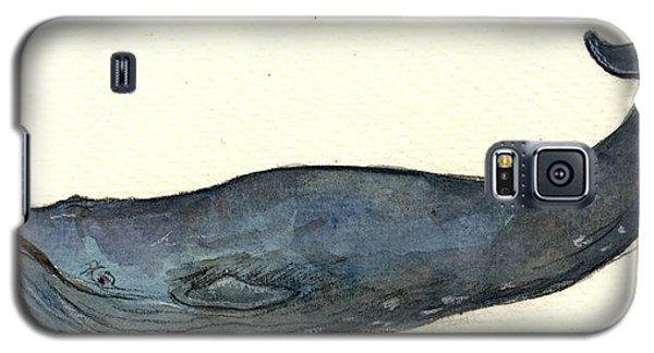 Blue Whale Galaxy S5 Case by Juan  Bosco