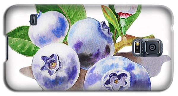 Artz Vitamins The Blueberries Galaxy S5 Case by Irina Sztukowski