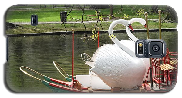 Boston Swan Boats Galaxy S5 Case by Barbara McDevitt