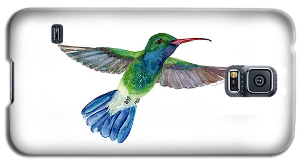 Broadbilled Fan Tail Hummingbird Galaxy S5 Case by Amy Kirkpatrick