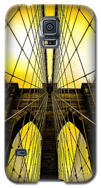 Brooklyn Bridge Yellow Galaxy S5 Case by Az Jackson