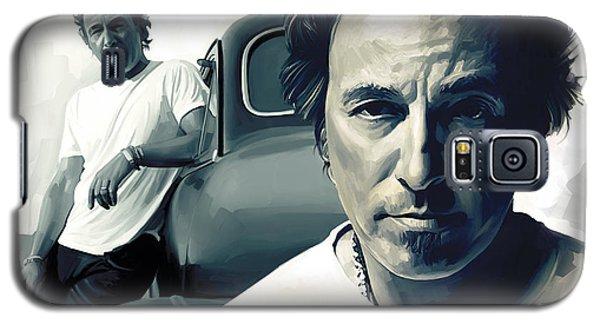 Bruce Springsteen The Boss Artwork 1 Galaxy S5 Case by Sheraz A