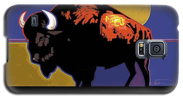Buffalo Moon Galaxy S5 Case by R Mark Heath