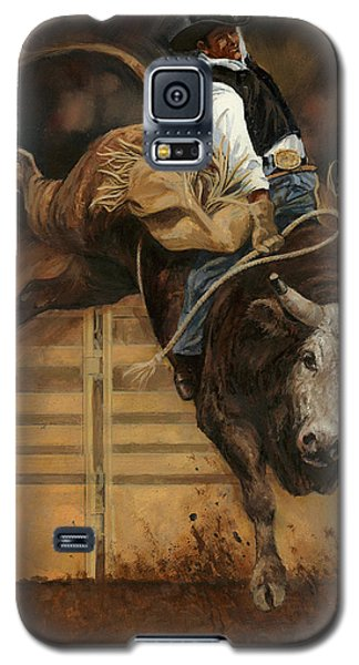 Bull Riding 1 Galaxy S5 Case by Don  Langeneckert