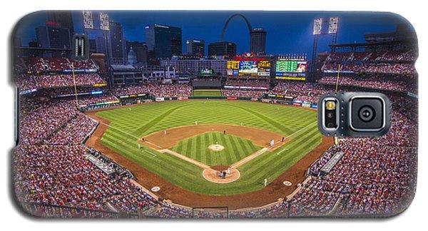 Busch Stadium St. Louis Cardinals Night Game Galaxy S5 Case by David Haskett