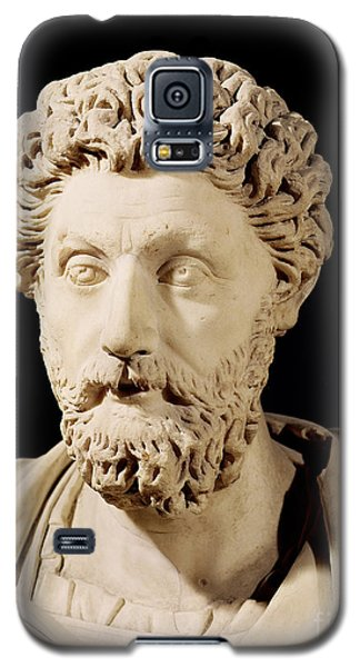 Sculptures Galaxy S5 Cases - Bust of Marcus Aurelius Galaxy S5 Case by Anonymous