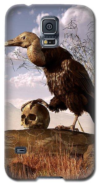 Buzzard With A Skull Galaxy S5 Case by Daniel Eskridge