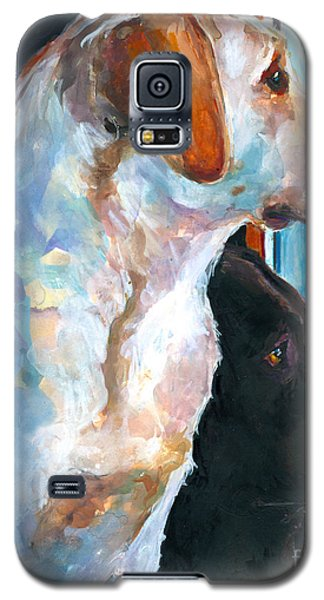 Yellow Galaxy S5 Cases - By My Side Galaxy S5 Case by Molly Poole