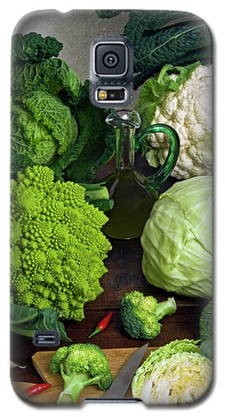 Cabbages -clockwise- Broccoli Galaxy S5 Case by Nico Tondini