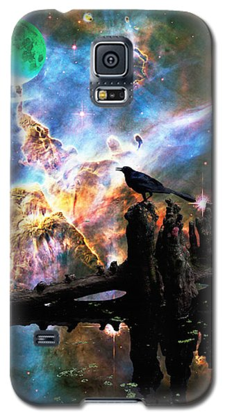 Calling The Night - Crow Art By Sharon Cummings Galaxy S5 Case by Sharon Cummings