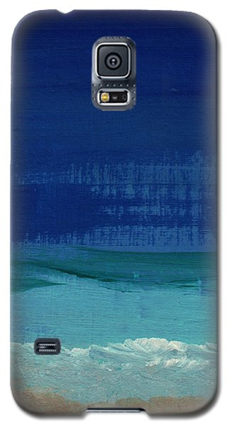 Calm Waters- Abstract Landscape Painting Galaxy S5 Case by Linda Woods