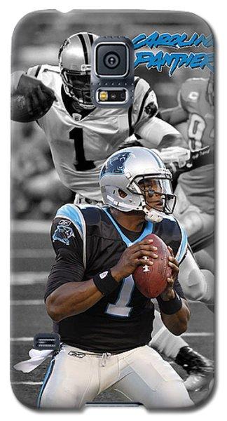 Cam Newton Panthers Galaxy S5 Case by Joe Hamilton