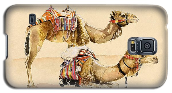 Camels From Petra Galaxy S5 Case by Alison Cooper
