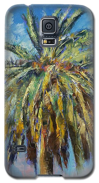 Canary Island Date Palm Galaxy S5 Case by Michael Creese