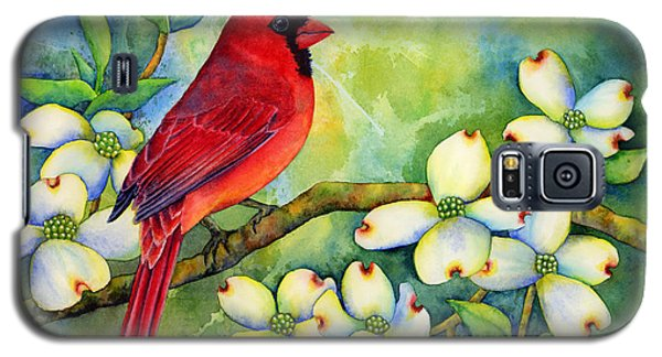 Cardinal On Dogwood Galaxy S5 Case by Hailey E Herrera