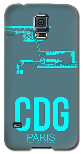 Cdg Paris Airport Poster 1 Galaxy S5 Case by Naxart Studio