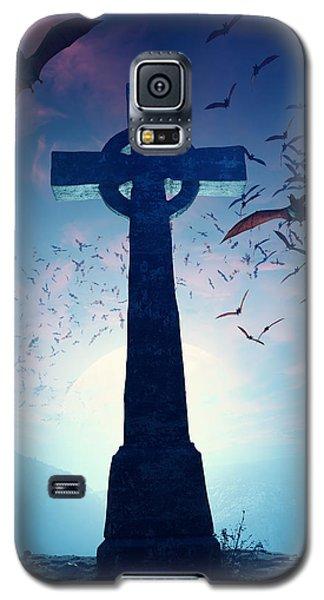 Celtic Cross With Swarm Of Bats Galaxy S5 Case by Johan Swanepoel