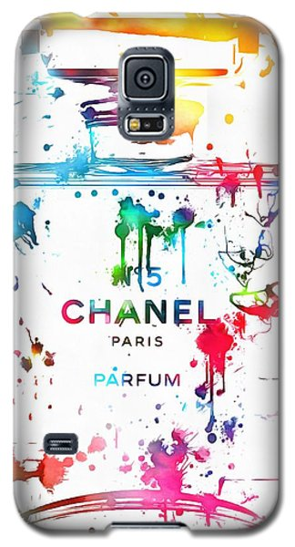 Chanel Number Five Paint Splatter Galaxy S5 Case by Dan Sproul