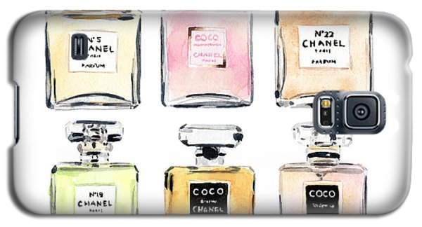 Chanel Perfumes Galaxy S5 Case by Laura Row Studio