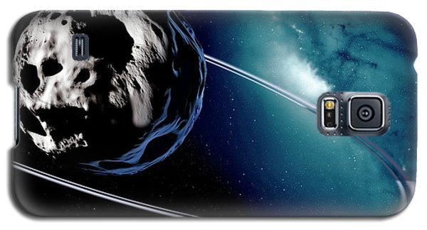 Chariklo Minor Planet And Rings Galaxy S5 Case by Detlev Van Ravenswaay