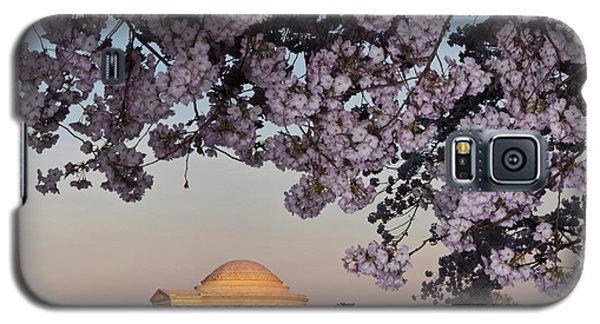 Cherry Blossom Tree With A Memorial Galaxy S5 Case by Panoramic Images