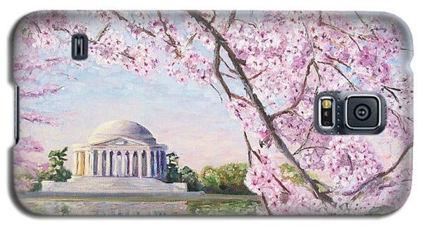 Jefferson Memorial Cherry Blossoms Galaxy S5 Case by Patty Kay Hall