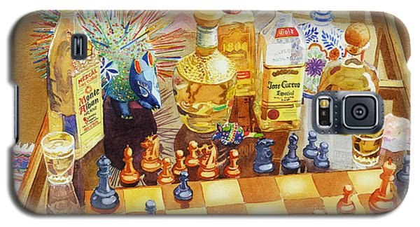 Paintings Galaxy S5 Cases - Chess and Tequila Galaxy S5 Case by Mary Helmreich