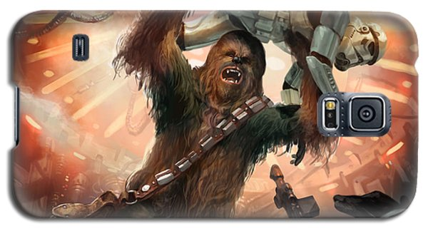 Science Fiction Galaxy S5 Cases - Chewbacca - Star Wars the Card Game Galaxy S5 Case by Ryan Barger