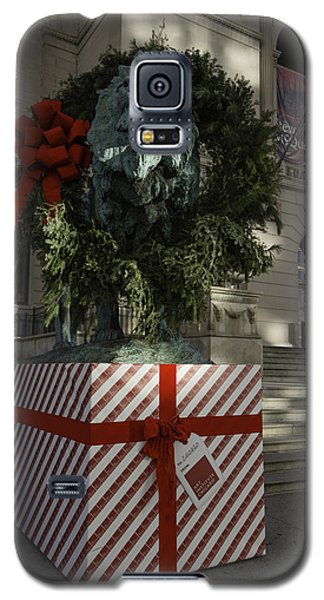 Landmarks Galaxy S5 Cases - Chicago Art Institute Lion Galaxy S5 Case by Sebastian Musial