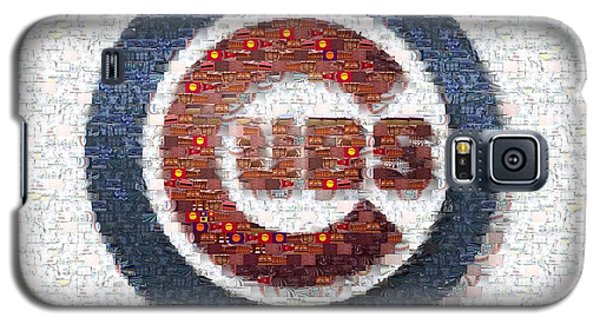 Chicago Cubs Mosaic Galaxy S5 Case by David Bearden