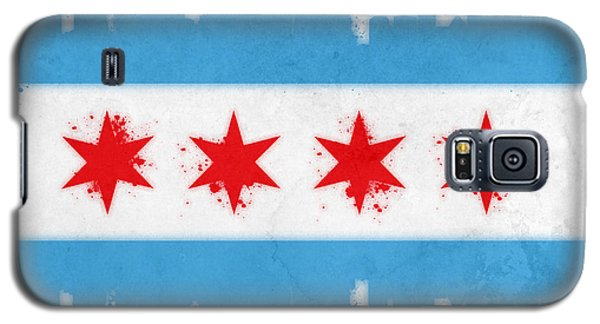 Skylines Galaxy S5 Cases - Chicago Flag Galaxy S5 Case by Mike Maher