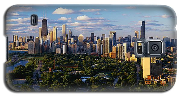 Skylines Galaxy S5 Cases - Chicago Il Galaxy S5 Case by Panoramic Images