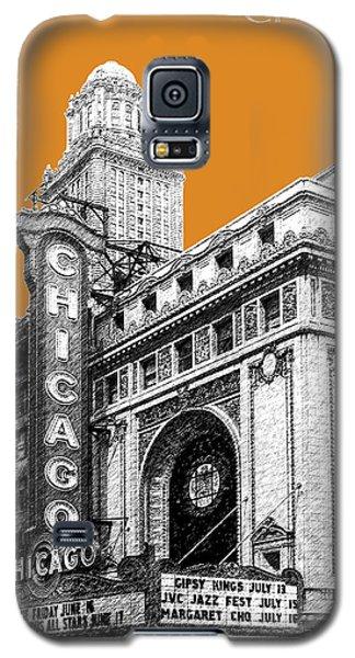 Chicago Theater - Dark Orange Galaxy S5 Case by DB Artist