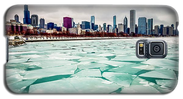 Chicago Winter Skyline Galaxy S5 Case by Paul Velgos