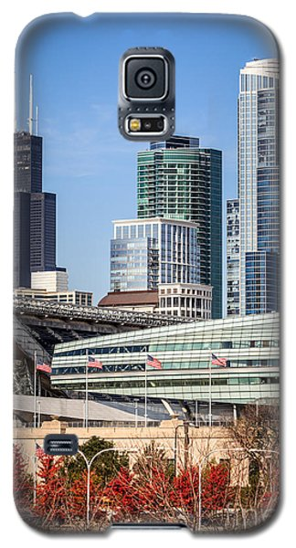 Chicago With Soldier Field And Sears Tower Galaxy S5 Case by Paul Velgos