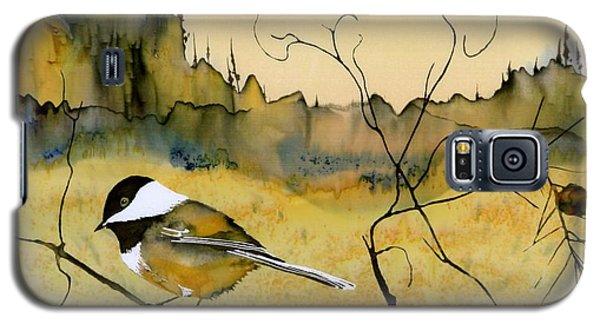 Chickadee In Dancing Pine Galaxy S5 Case by Carolyn Doe