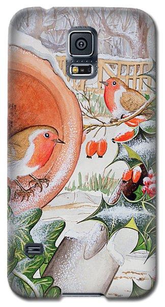 Christmas Robins Galaxy S5 Case by Tony Todd