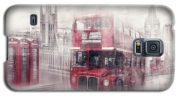 City-art London Westminster Collage II Galaxy S5 Case by Melanie Viola