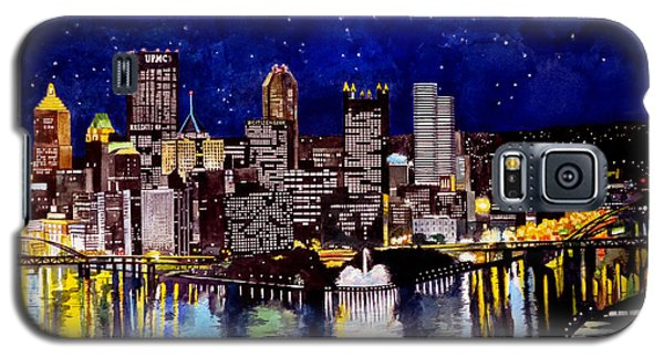 City Of Pittsburgh At The Point Galaxy S5 Case by Christopher Shellhammer